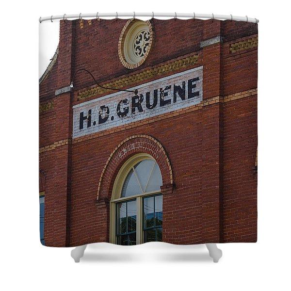 H D Gruene Shower Curtain