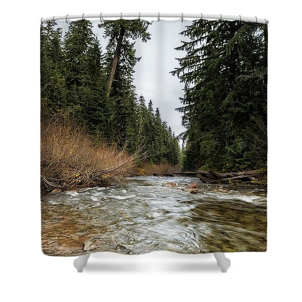 Hackleman Creek  Shower Curtain