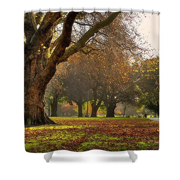 Hagley In Autumn Shower Curtain