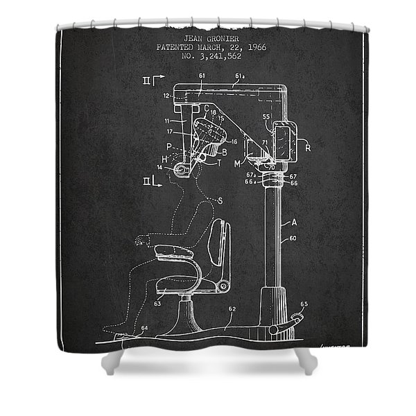 Hair Cutting Machine Patent From 1966 - Charcoal Shower Curtain