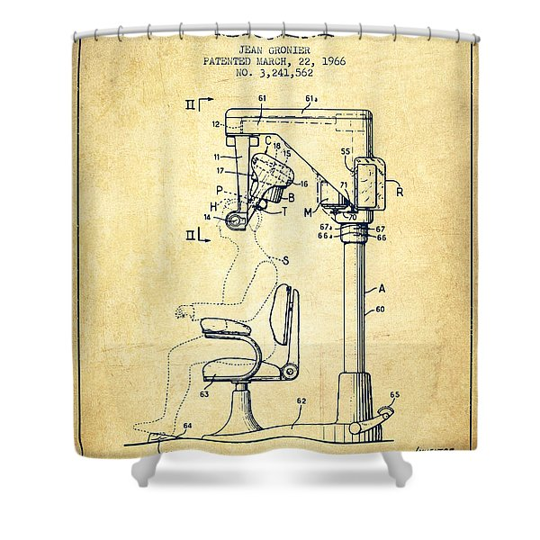 Hair Cutting Machine Patent From 1966 - Vintage Shower Curtain