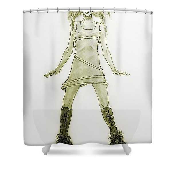 Hairy Boots Shower Curtain