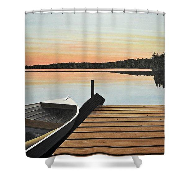 Haliburton Dock Shower Curtain
