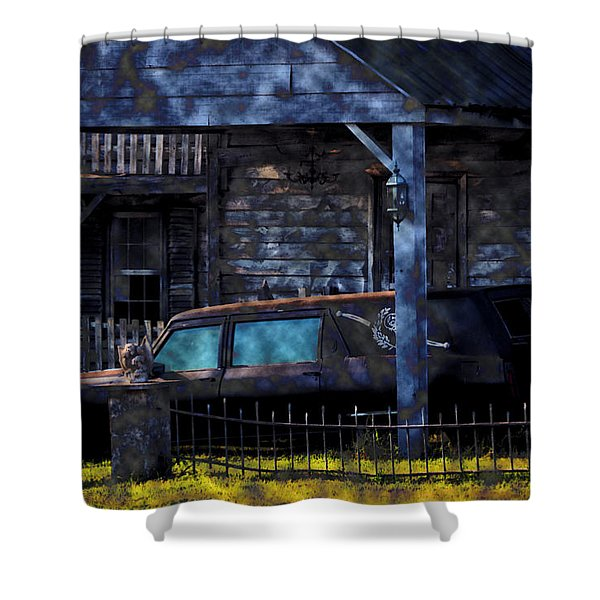 Halloween Hearse Art 1 Shower Curtain