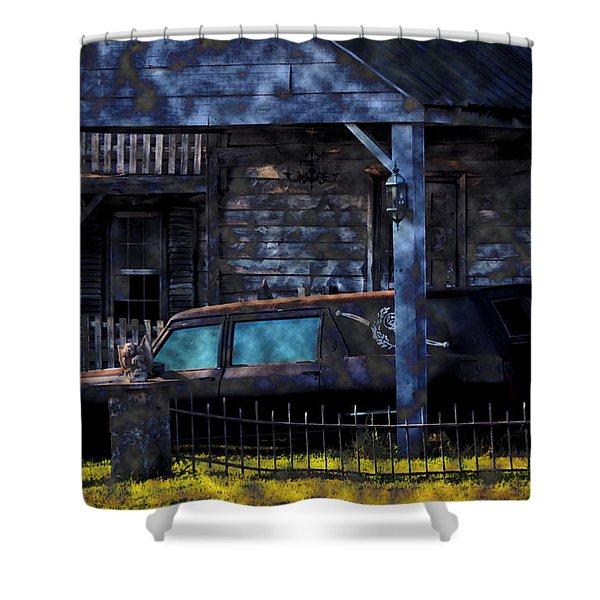 Halloween Hearse Art 1 Shower Curtain