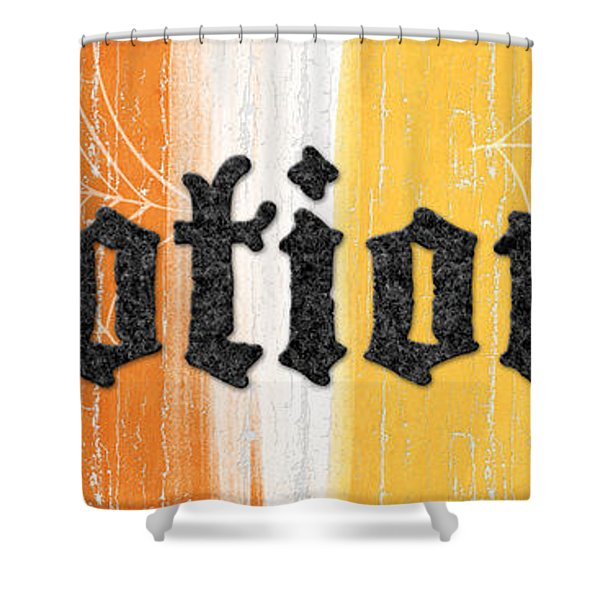 Halloween Potions Sign Shower Curtain
