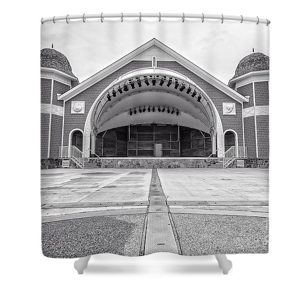 Hampton Beach Bandstand Stage Shower Curtain