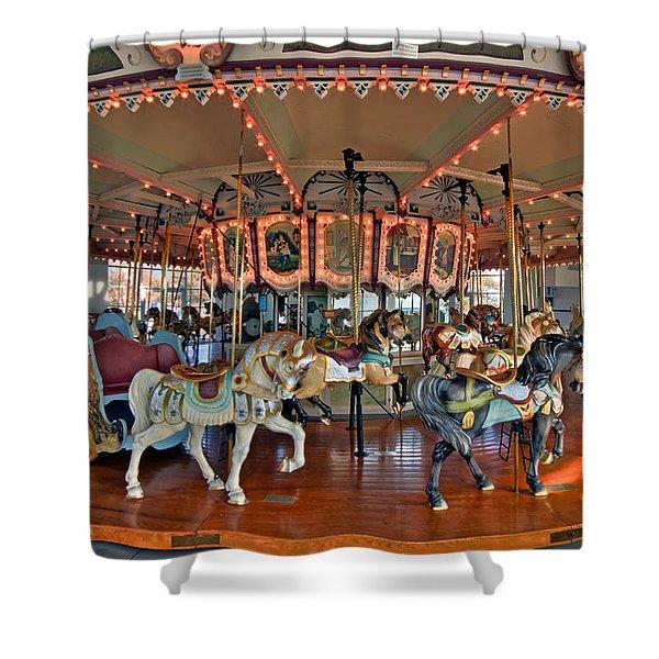 Hampton Carousel 2 Shower Curtain