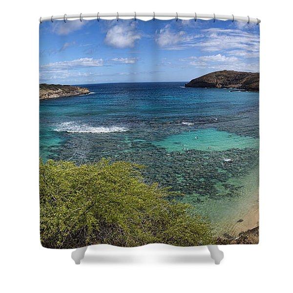 Hanauma Bay Panorama Shower Curtain