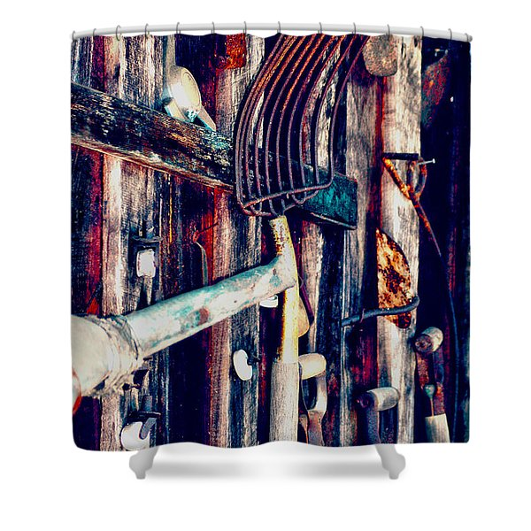Handles And The Pitchfork Shower Curtain