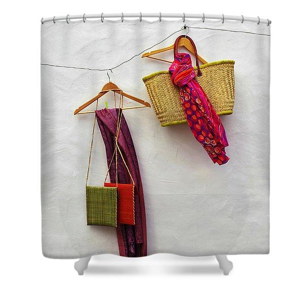 Hanging Handicraft  Shower Curtain
