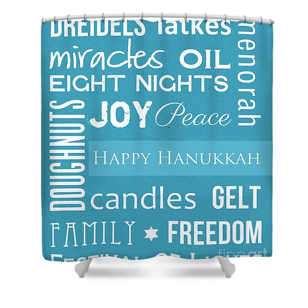 Hanukkah Fun Shower Curtain