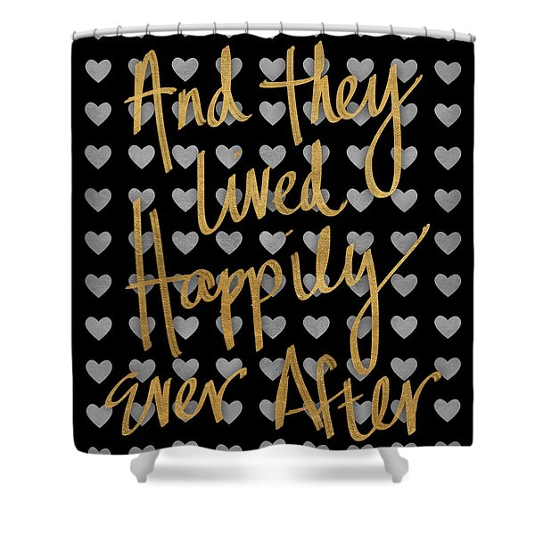 Happily Ever After Pattern Shower Curtain