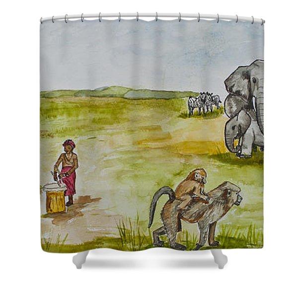 Happy Africa Shower Curtain