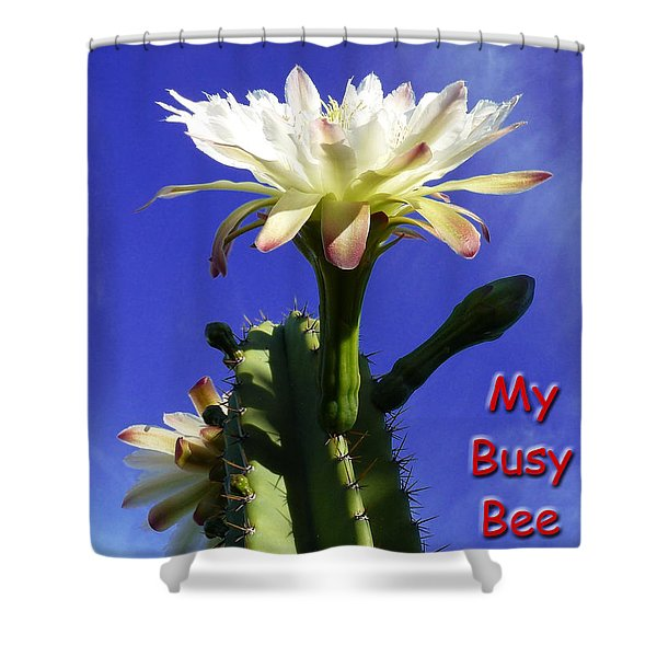 Happy Birthday Card And Print 15 Shower Curtain