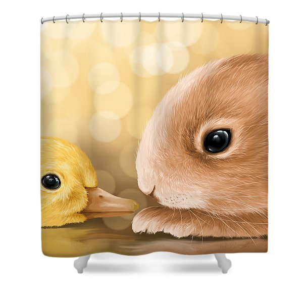 Happy Easter 2014 Shower Curtain