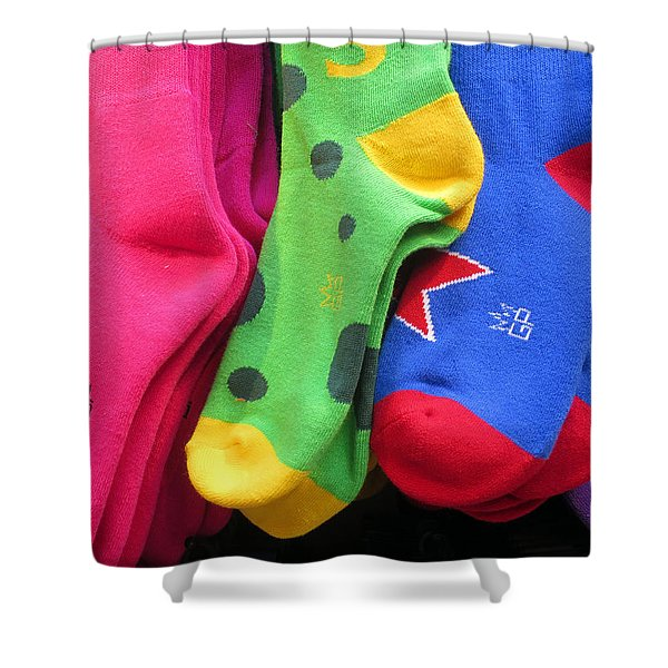 Wear Loud Socks Shower Curtain