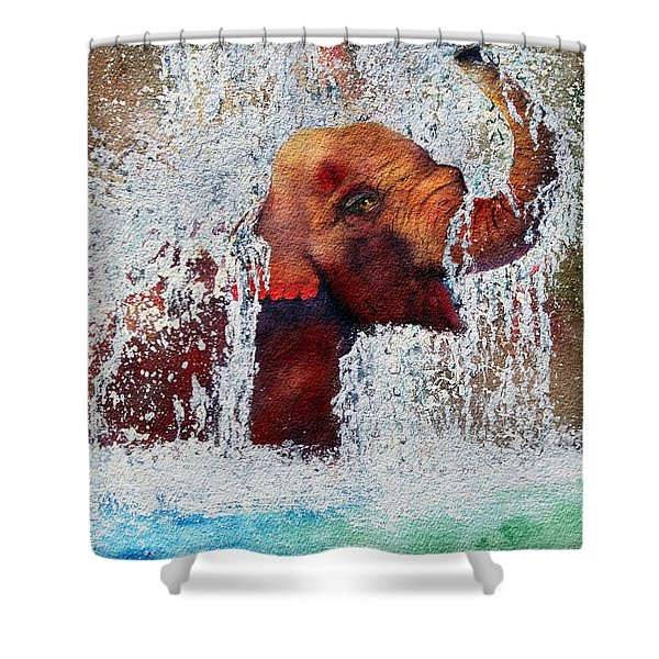 Happy Packy Shower Curtain