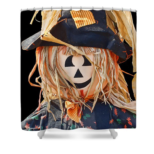 Happy Scarecrow Shower Curtain