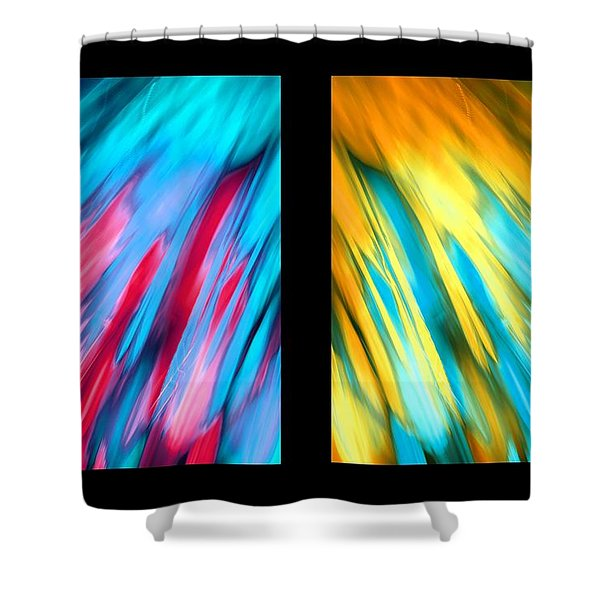 Happy Together Layout Shower Curtain