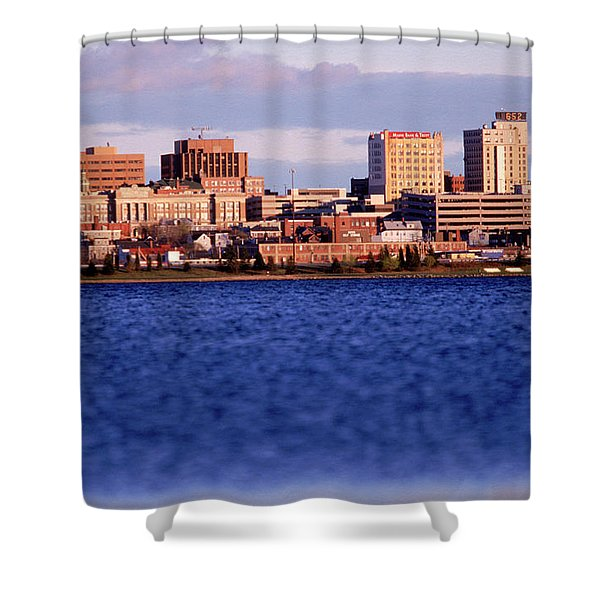 Harbor And Skyline Shower Curtain
