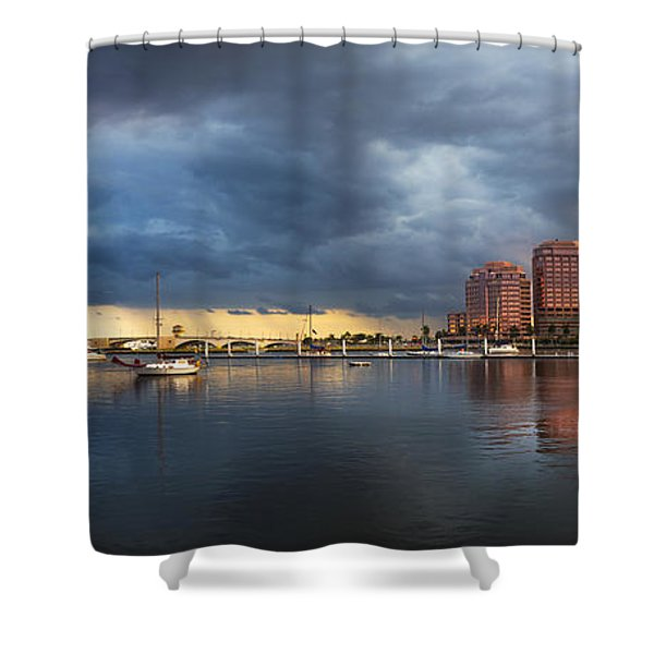 Harbor At West Palm Beach Shower Curtain