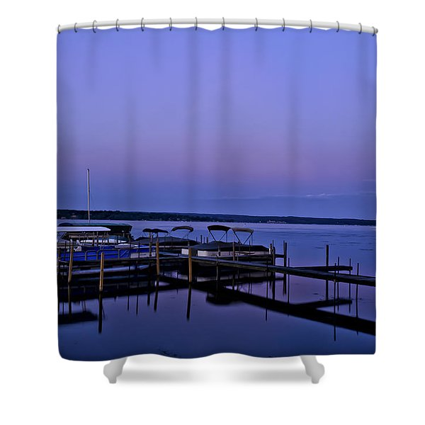 Harbor Night Shower Curtain