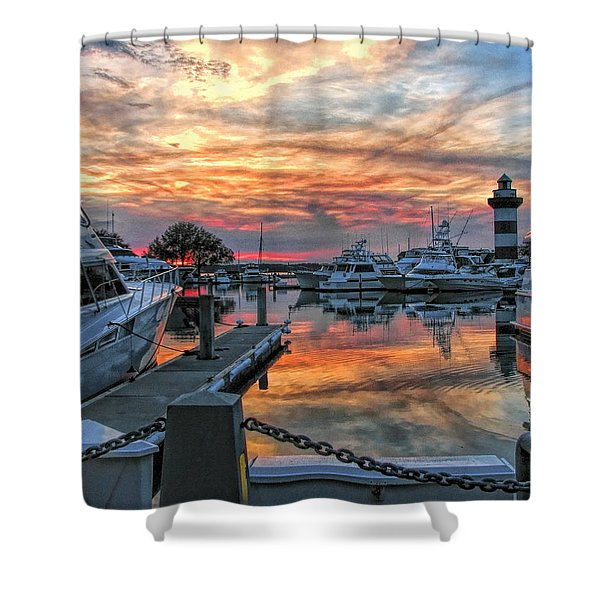 Harbour Town Yacht Basin Shower Curtain