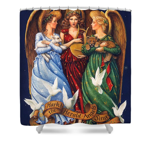 Hark The Herald Angels Sing Shower Curtain