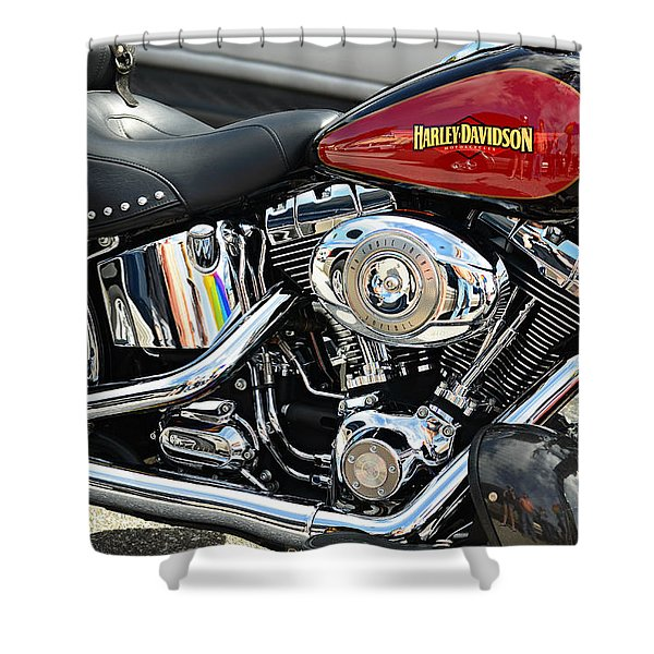 Harley Chrome Shower Curtain