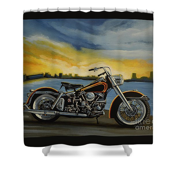 Harley Davidson Duo Glide Shower Curtain