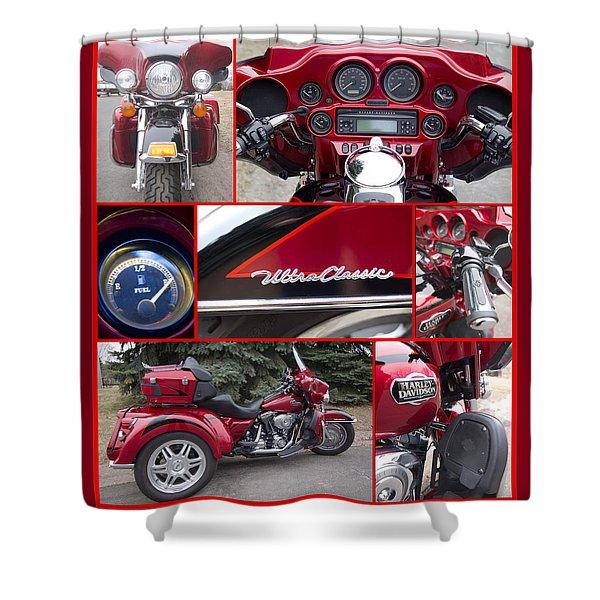 Harley Davidson Ultra Classic Trike Shower Curtain