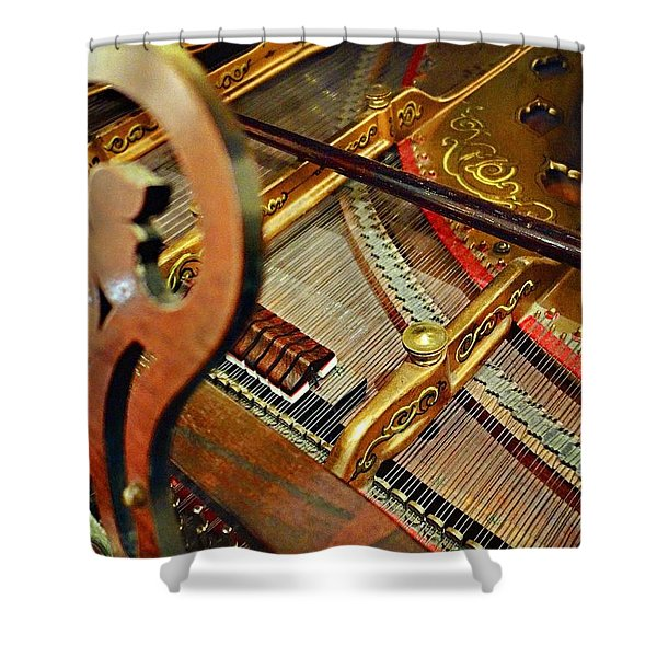 Harpsichord  Shower Curtain