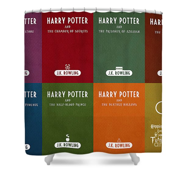 Harry Potter Series Book Cover Movie Poster Art 1 Shower Curtain