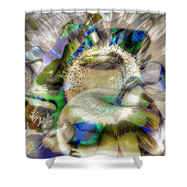 Shower Curtain featuring the digital art Harvest by Eleni Mac Synodinos