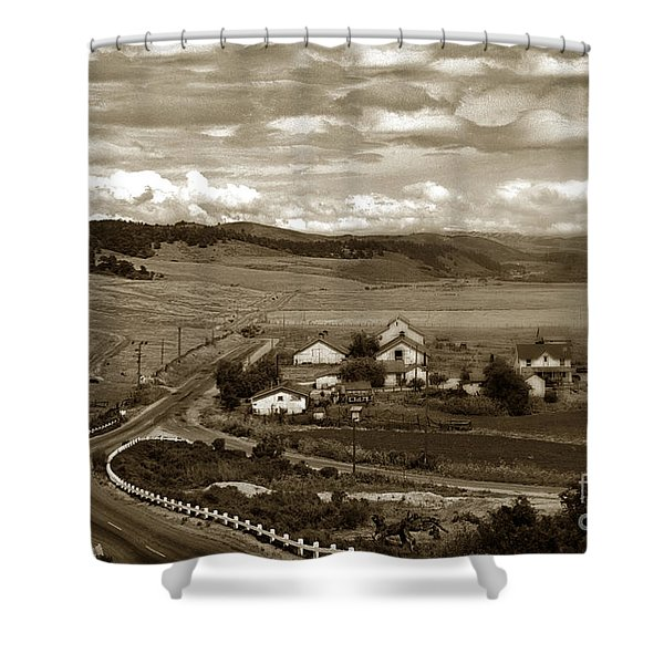 Hatton Ranch Carmel Valley From Highway One California  1945 Shower Curtain