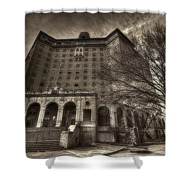 Haunted Baker Hotel Shower Curtain