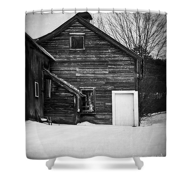 Haunted Old House Shower Curtain