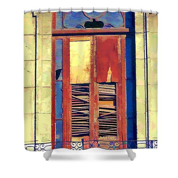 Havana Balcony 3 Shower Curtain