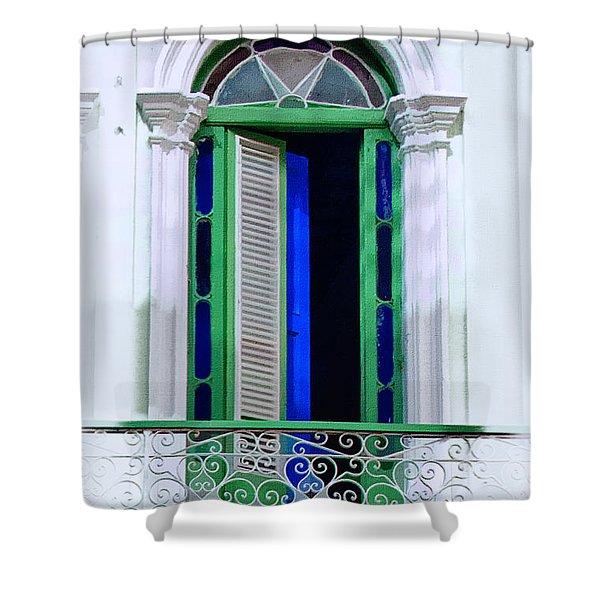 Havana Balcony 8 Shower Curtain