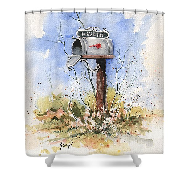 Havlik's Mailbox Shower Curtain