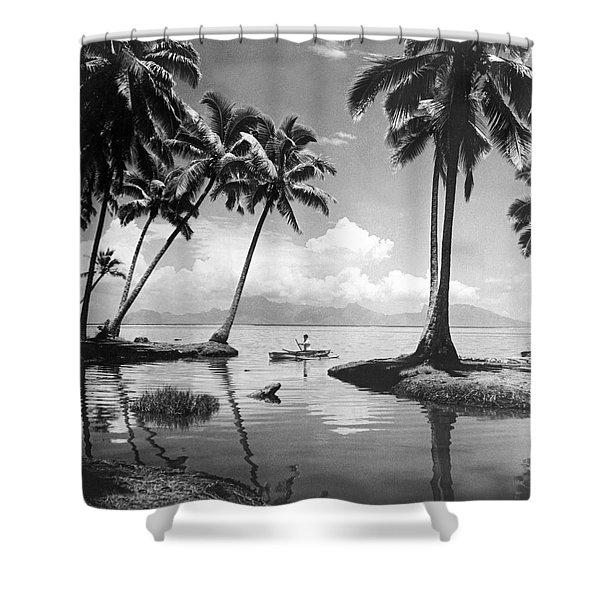 Hawaii Tropical Scene Shower Curtain
