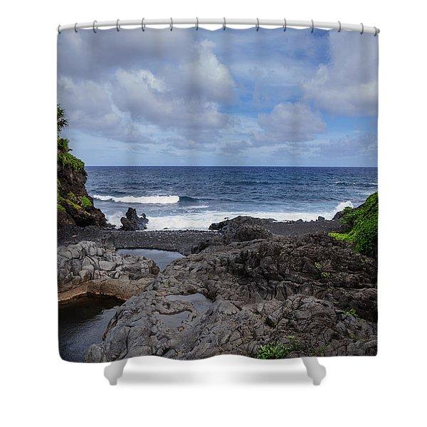 Hawaiian Surf Shower Curtain