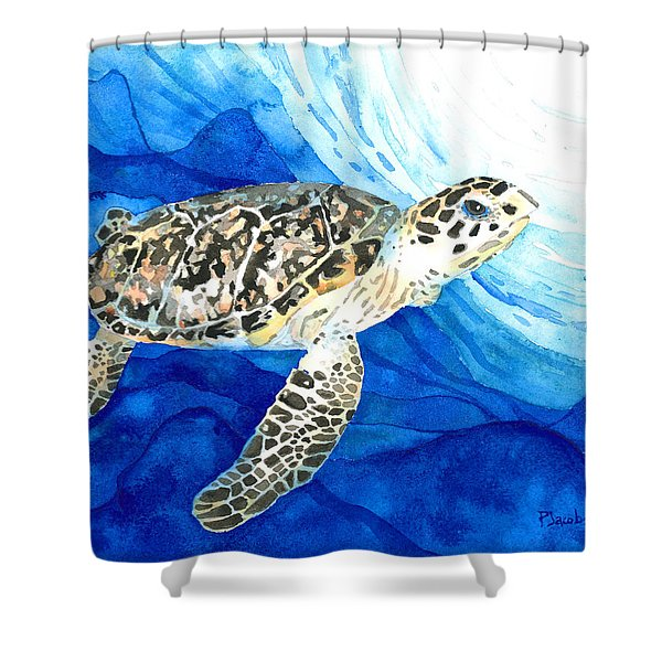 Hawksbill Sea Turtle 2 Shower Curtain