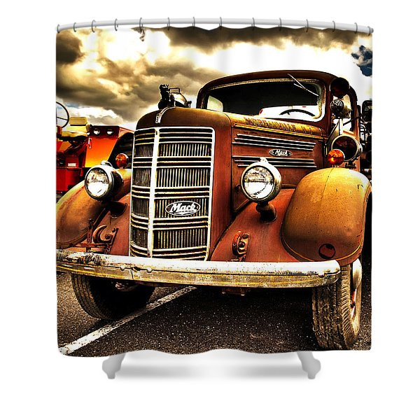 Hdr Fire Truck Shower Curtain