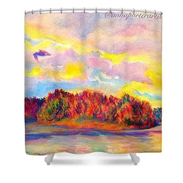 A Perfect Idea Of Freedom And Flight Shower Curtain