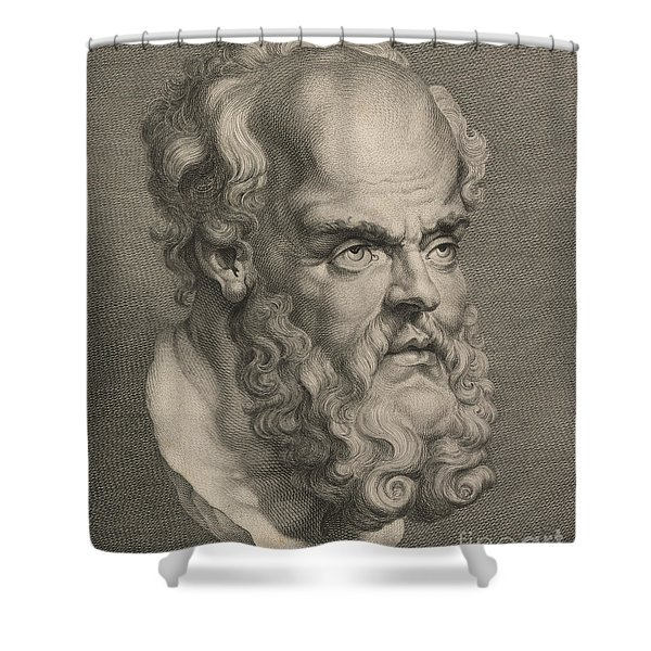 Head Of Socrates Shower Curtain