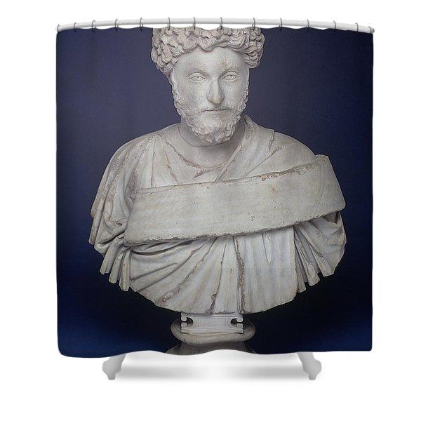 Head Of The Emperor Marcus Aurelius Shower Curtain