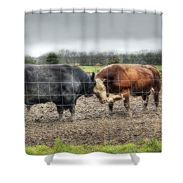 Head To Head Shower Curtain