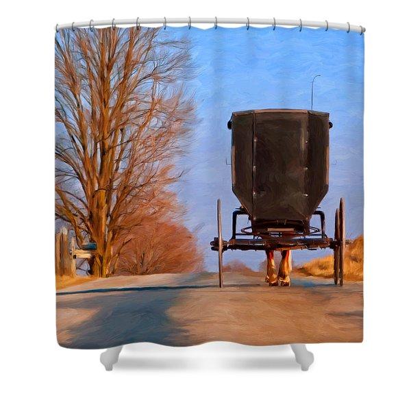 Headed Home Shower Curtain